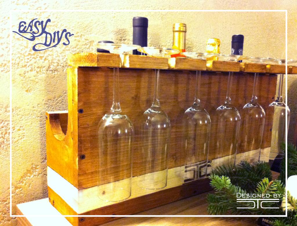 DIY Rustic Wine Rack | Easy DIYs