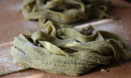 Homemade Spinach Tagliatelle