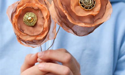 DIY flowers from fabric