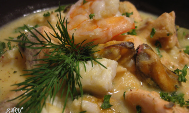 Creamy seafood soup recipe