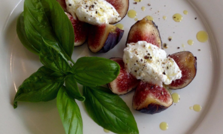 Figs with fresh Sheep's Milk Cheese