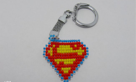 DIY Beaded superman logo Key Chain