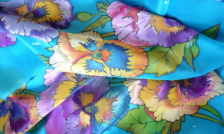 DIY Silk Scarf Hand Painted