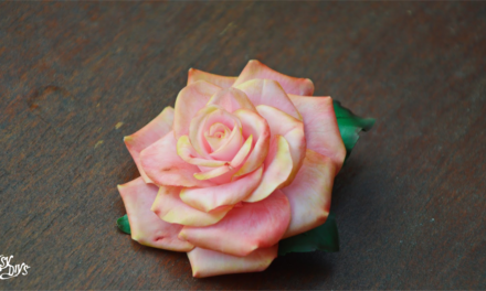 Cold Porcelain Clay roses diy