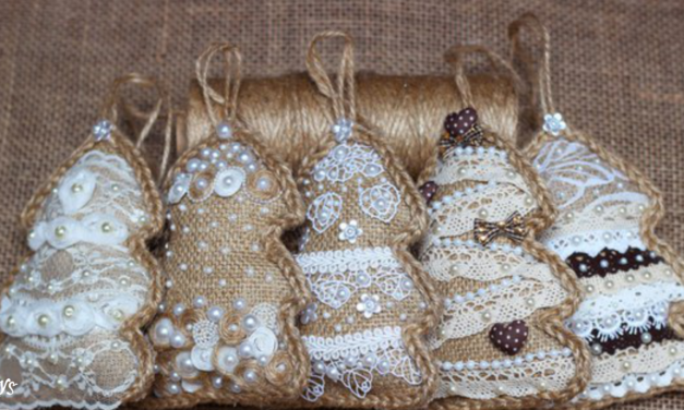 DIY Burlap Christmas Ornaments