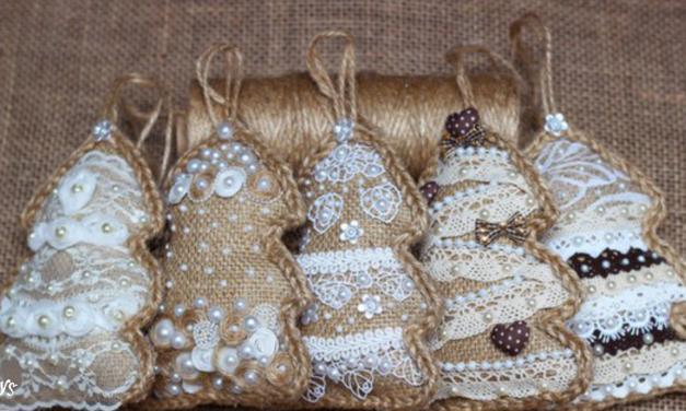 DIY Burlap Christmas Ornaments