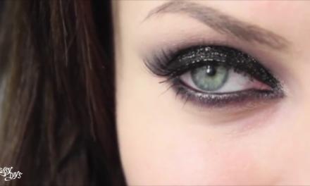 Black glitter smokey eyes video tutorial