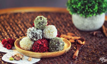 Vegan marzipan balls
