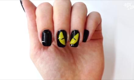 Scary eyes Halloween nail ART DIY