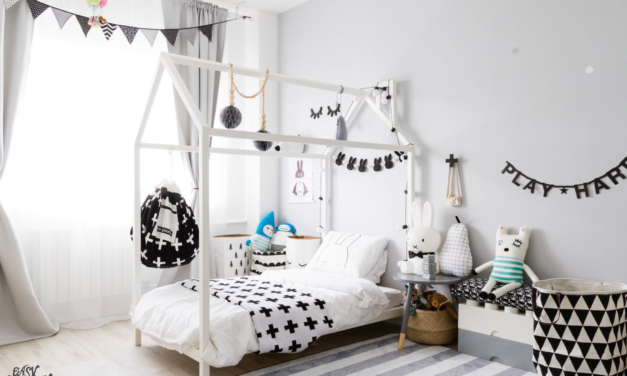 Amazing White and Black Kids Room
