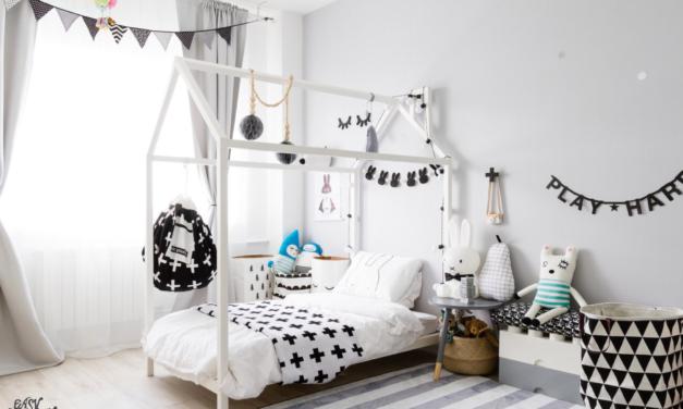 Amazing White and Black Kids Room
