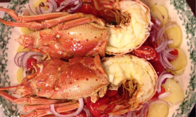 Catalan style lobster recipe